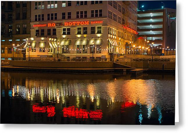 Riverwalk Greeting Cards - Rock Bottom on the River Greeting Card by Bill Pevlor
