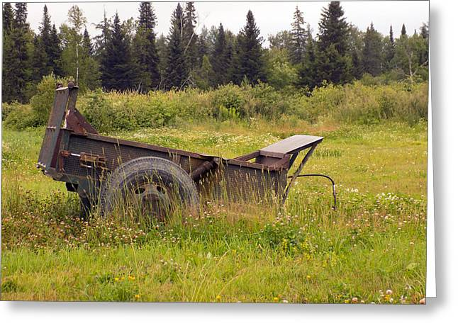 Maine Agriculture Greeting Cards - Rock Cart Greeting Card by William Tasker