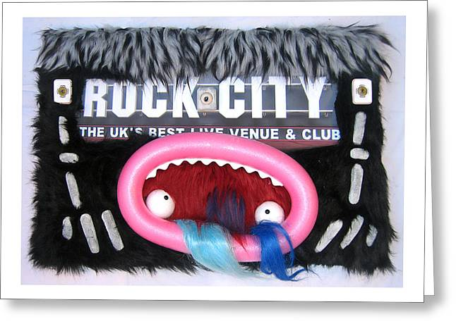 Live Music Mixed Media Greeting Cards - Rock City Greeting Card by Marcus Clarke