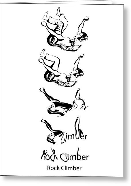 Morphing Sculptures Greeting Cards - Rock Climber Process Greeting Card by Michael Lee