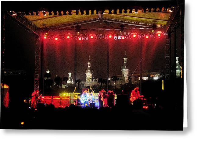 Rock Concerts Greeting Cards - Rock concert Greeting Card by David Lee Thompson
