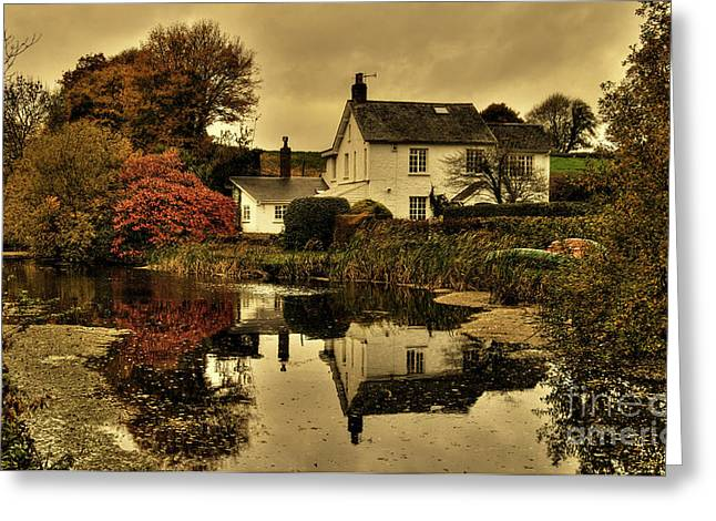 Peverell Greeting Cards - Rock Cottage Greeting Card by Rob Hawkins