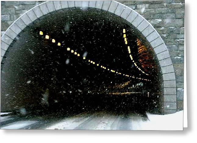 Usa Pyrography Greeting Cards - Rock Creek Parkway Tunnel  Greeting Card by Fareeha Khawaja