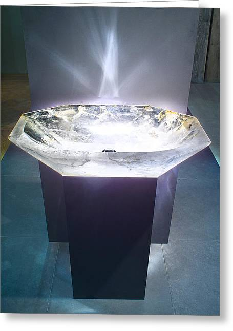 Stones Glass Art Greeting Cards - Rock Crystal Washbasin Greeting Card by Piotr Marek