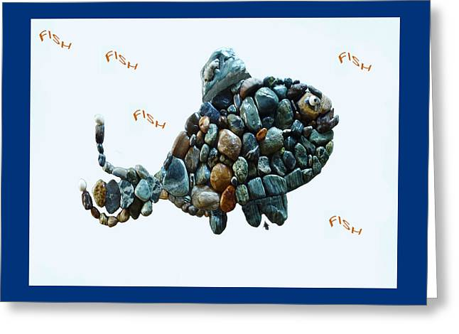 Cushion Sculptures Greeting Cards - Rock Fish Alaska Greeting Card by Sarah  King