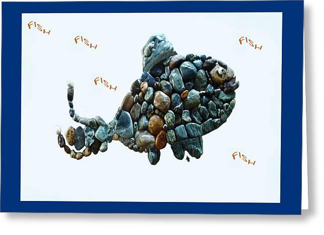 Print Sculptures Greeting Cards - Rock Fish Alaska Greeting Card by Sarah  King