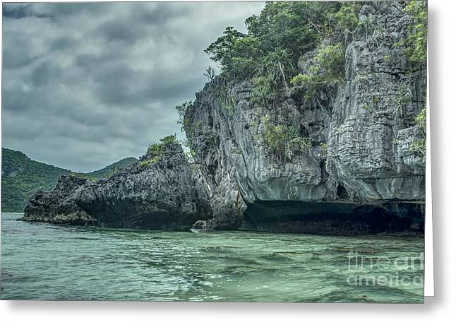 Angthong Greeting Cards - Rock Formation Greeting Card by Michelle Meenawong
