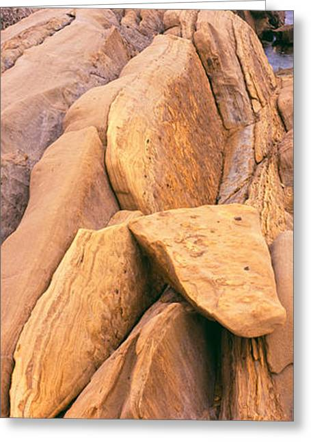 Rock Formations At The Coast, Montana Greeting Card by Panoramic Images