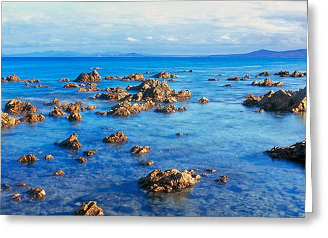 Sea Of Cortez Greeting Cards - Rock Formations In Pacific Ocean, Sea Greeting Card by Panoramic Images