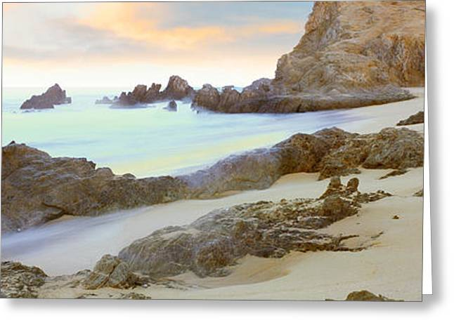 California Beach Greeting Cards - Rock Formations On Cerritos Beach Greeting Card by Panoramic Images