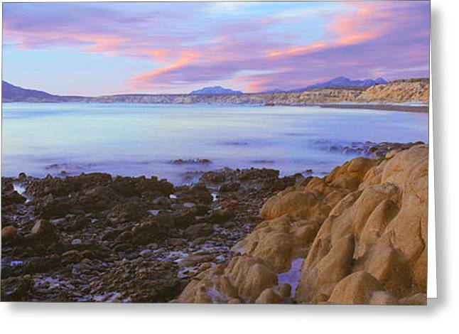 Baja California Greeting Cards - Rock Formations On Coast, Cabo Pulmo Greeting Card by Panoramic Images