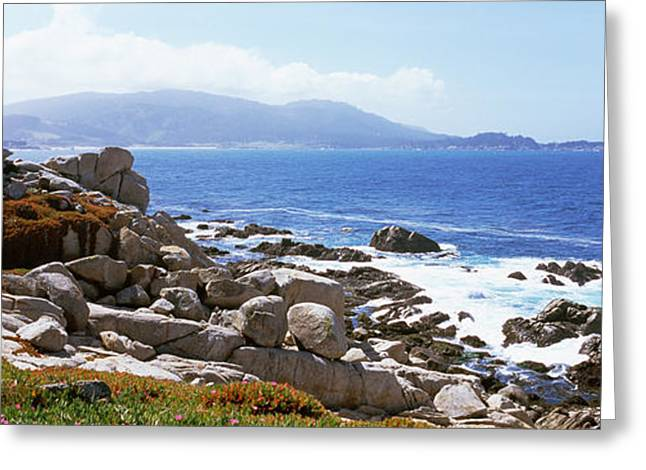 Scenic Drive Greeting Cards - Rock Formations On The Coast, 17-mile Greeting Card by Panoramic Images