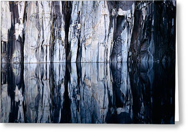 Sequoia National Park Greeting Cards - Rock Formations Reflected In A Lake Greeting Card by Panoramic Images