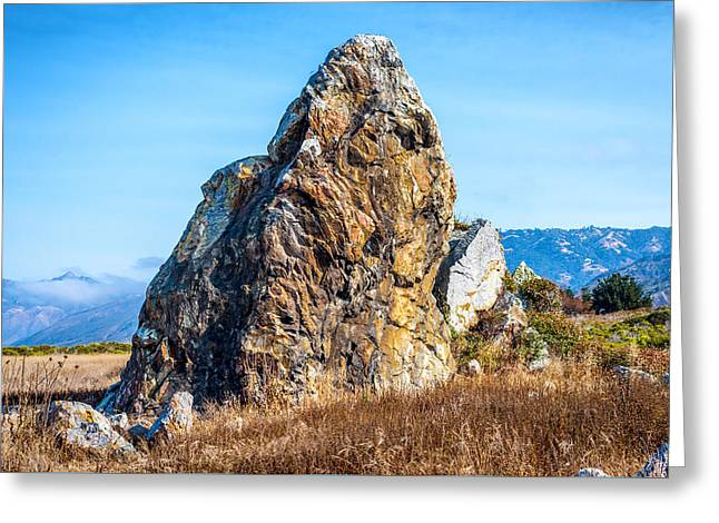 Big Sur California Greeting Cards - Rock in a Meadow II Greeting Card by Joseph S Giacalone