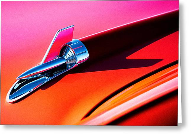 Vintage Hood Ornaments Greeting Cards - Rock It Greeting Card by Douglas Pittman