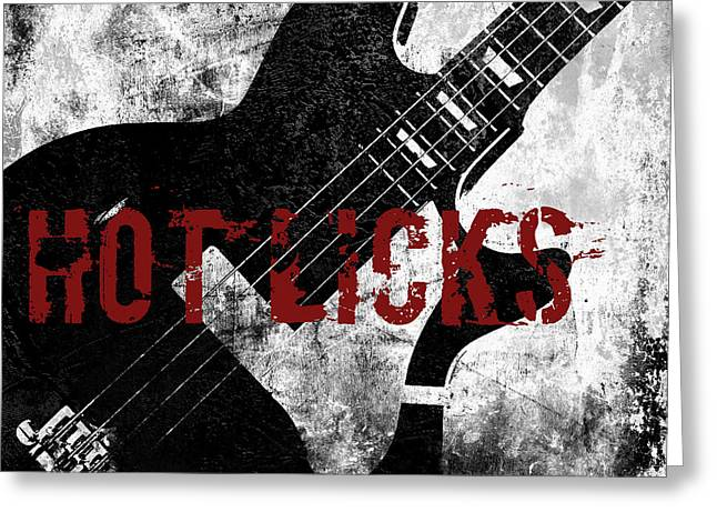 Lead Singer Greeting Cards - Rock N Roll Guitar Greeting Card by Mindy Sommers