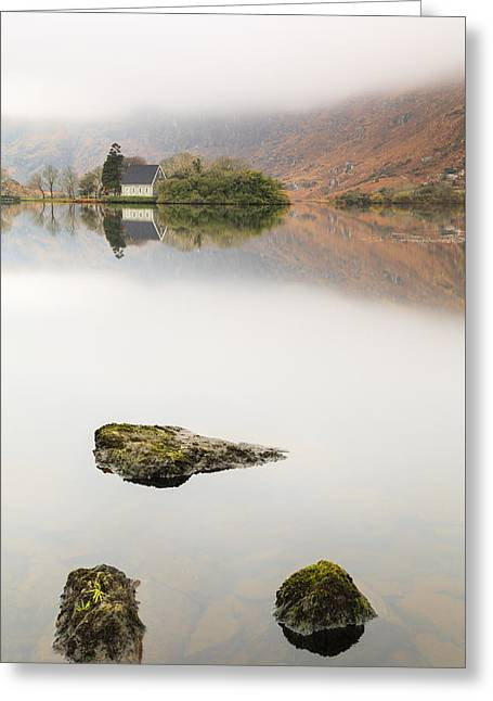 Gougane Barra Church Greeting Cards - Rock of Barra Greeting Card by Graham Daly