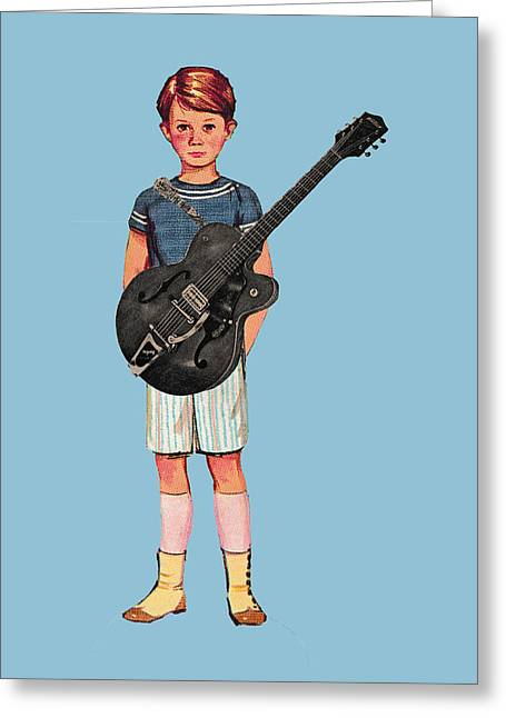 Rock On Greeting Card by Colleen VT