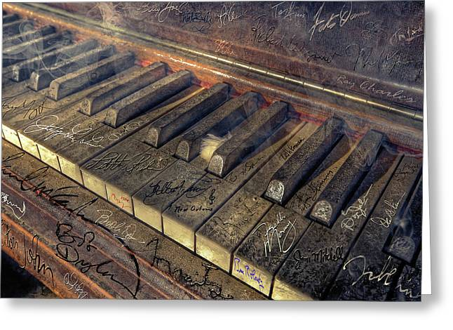 Rock Piano Fantasy Greeting Card by Mal Bray