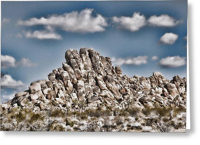 Rock Pile Greeting Cards - Rock Pile - Painterly Greeting Card by Stephen Stookey