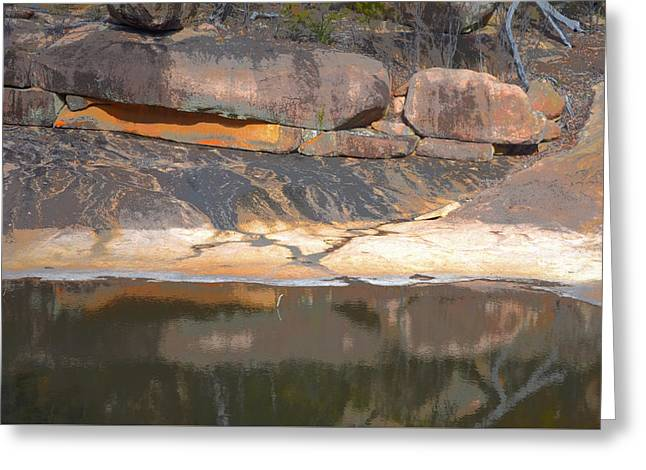 Rock Pool Reflections Greeting Card by Anthony Robinson