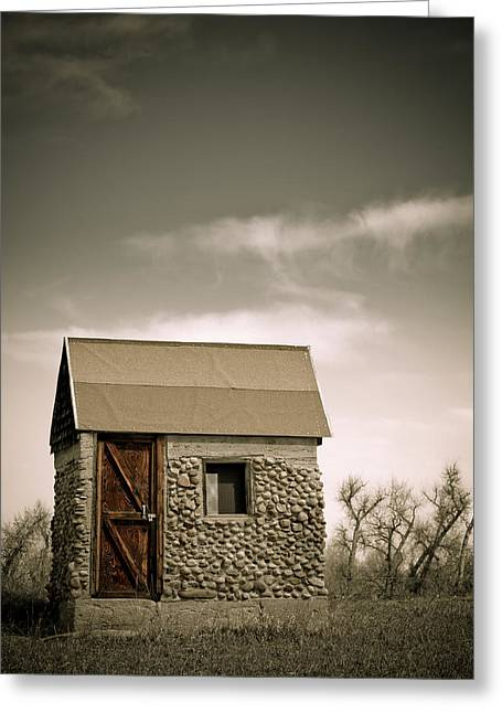 Rock Shed Greeting Card by Marilyn Hunt