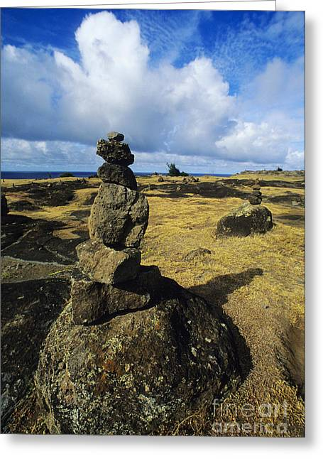 Dirt Pile Greeting Cards - Rock Stacks Greeting Card by Carl Shaneff - Printscapes
