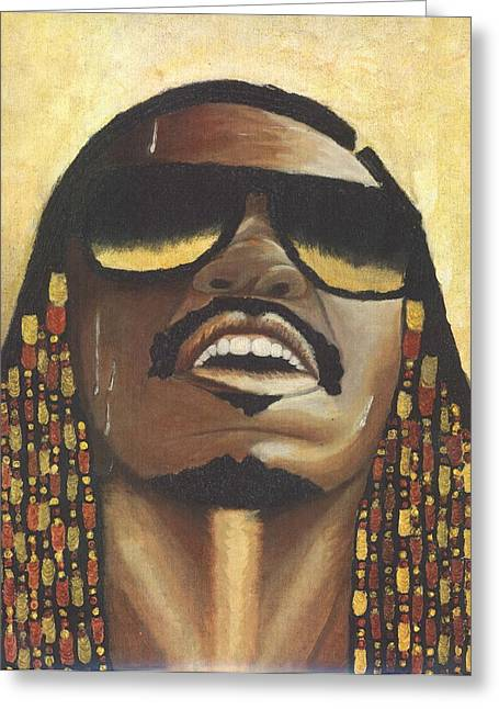 Keenya Woods Mixed Media Greeting Cards - Rocket Love - Stevie Wonder  Greeting Card by Keenya  Woods