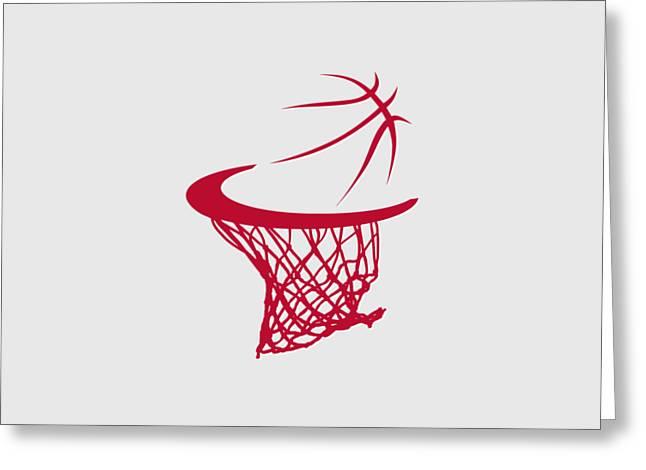 Basket Ball Greeting Cards - Rockets Basketball Hoop Greeting Card by Joe Hamilton