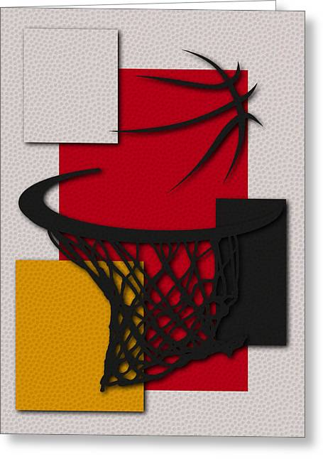 Basket Ball Greeting Cards - Rockets Hoop Greeting Card by Joe Hamilton
