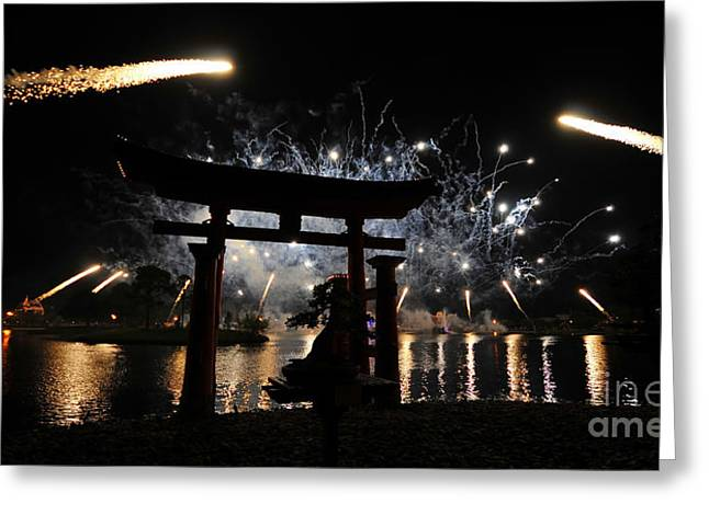 World Showcase Greeting Cards - Rockets red glare Greeting Card by David Lee Thompson