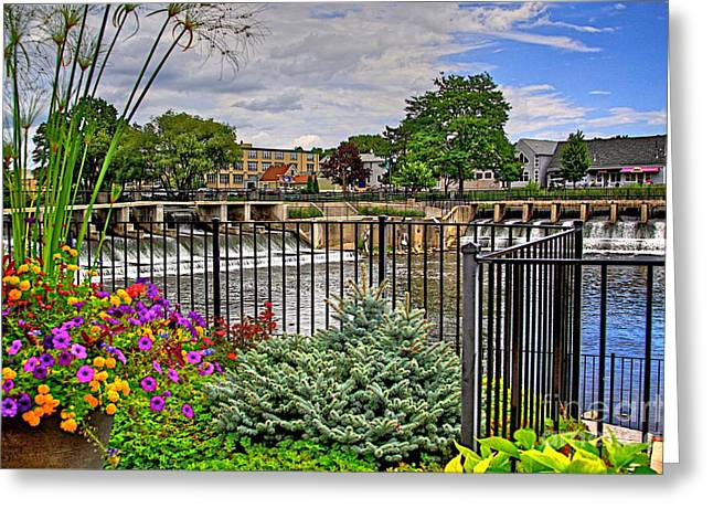 Hdr Landscape Mixed Media Greeting Cards - RockFord Michigan Greeting Card by Robert Pearson