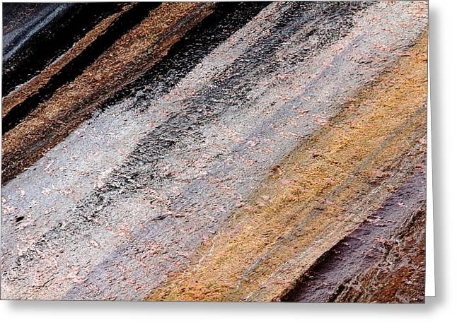 Geology Photographs Greeting Cards - Rocking Stripes Greeting Card by Debbie Oppermann