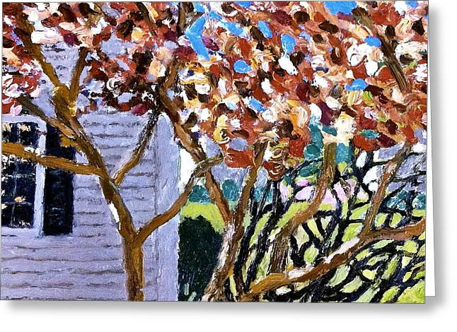 Maine Spring Paintings Greeting Cards - Rockland Maine Spring Greeting Card by Garrin Riggin