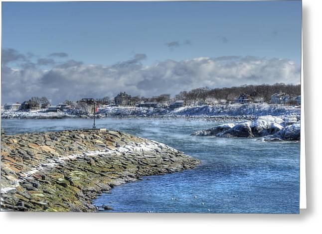 Rockport Ma Fishing Village Greeting Card by Joann Vitali