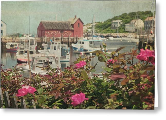 Rockport Motif No 1 - Red Fishing Hut Greeting Card by Joann Vitali