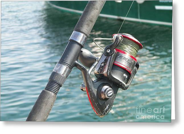 New England Village Greeting Cards - Rockport Rod And Reel Greeting Card by Gina Sullivan