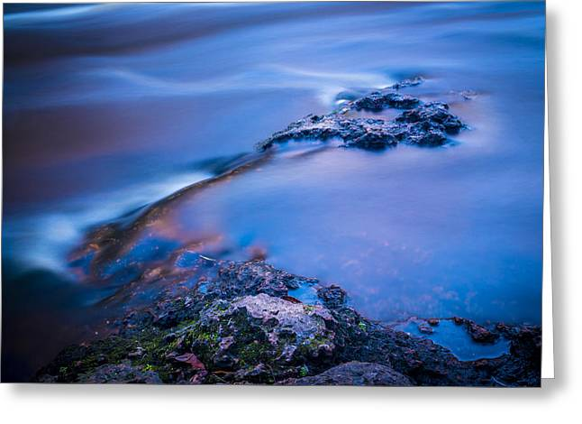 Rocks And Water Greeting Card by Marvin Spates