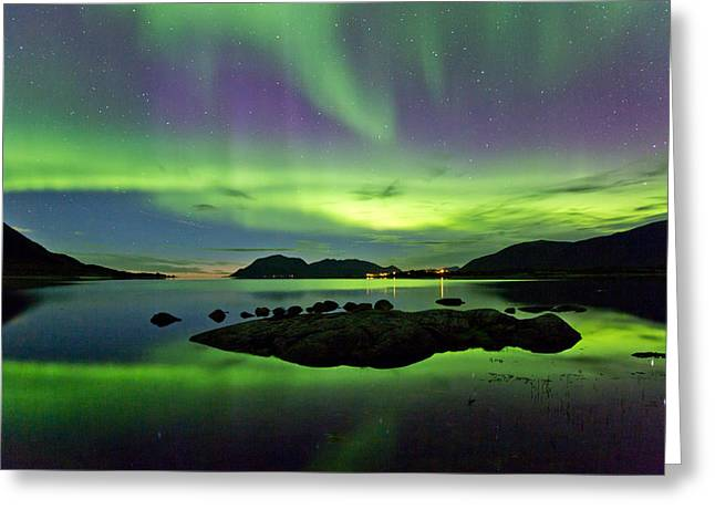 Rocks In The Sea Greeting Card by Frank Olsen