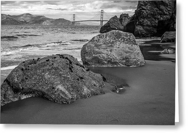 China Beach Greeting Cards - Rocks on China Beach Greeting Card by Judith Barath