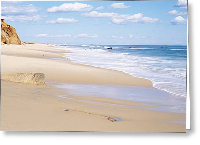 New England Ocean Greeting Cards - Rocks On The Beach, Lucy Vincent Beach Greeting Card by Panoramic Images