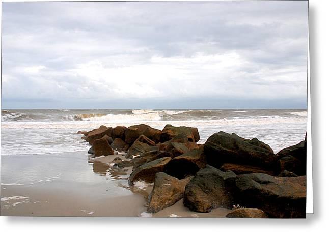 Photos Of Ocean Greeting Cards - Rocks on the Beach Greeting Card by Susanne Van Hulst