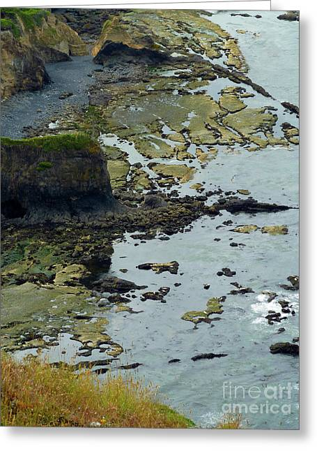 Ocean Photos Digital Greeting Cards - Rocky Beach 1 Greeting Card by Methune Hively