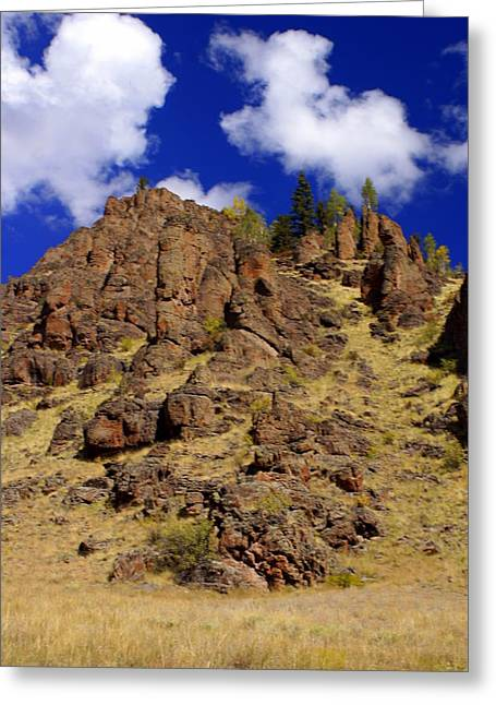 Rocky Butte Greeting Card by Marty Koch