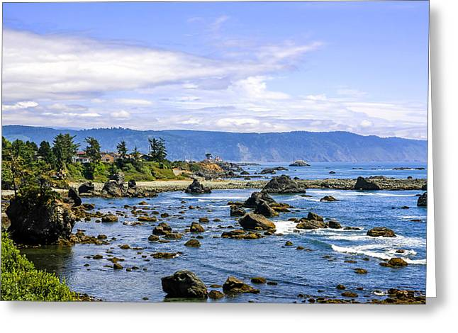 Outlook Greeting Cards - Rocky California Coastline Greeting Card by Chris Smith