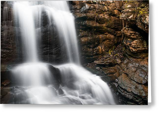 Music Time Photographs Greeting Cards - Rocky Cascade Greeting Card by Shelby  Young