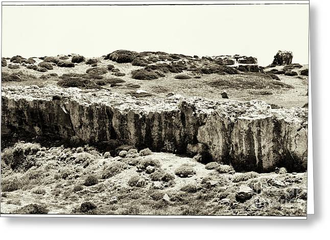 Cypriotic Greeting Cards - Rocky Climb Greeting Card by John Rizzuto