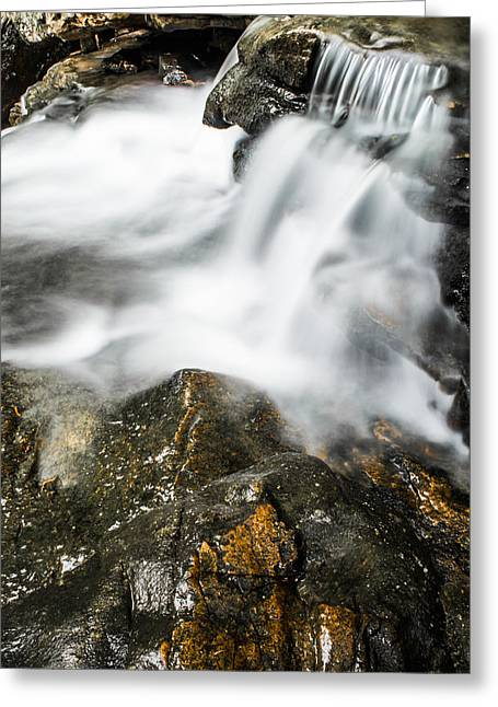Splashy Greeting Cards - Rocky Collision Greeting Card by Shelby  Young