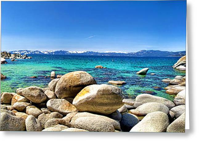 Incline Digital Greeting Cards - Rocky Cove Sand Harbor Greeting Card by Jason Abando