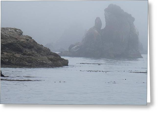 California Ocean Photography Greeting Cards - Rocky Cove Greeting Card by Teresa St George